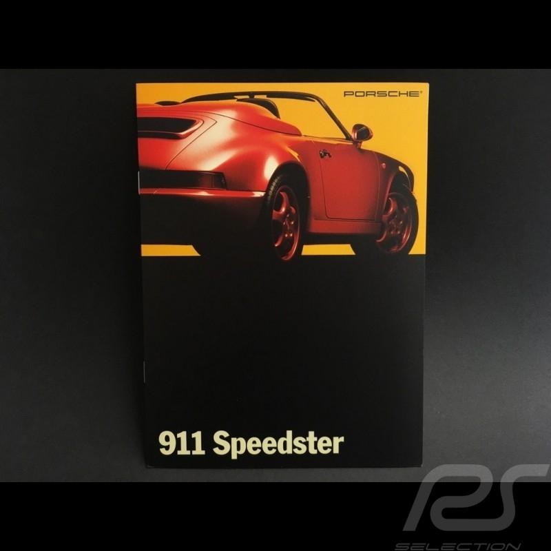 Porsche Broschüre 911 Speedster in Englisch Dezember 1992
