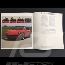 Brochure Porsche 911 SC Cabriolet en anglais