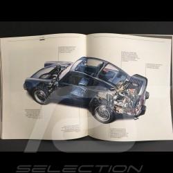 Brochure Porsche 911 3.3 turbo 1986 anglais english Englisch