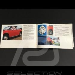 Porsche Broschüre 1969 Bereich in Englisch - Fact book