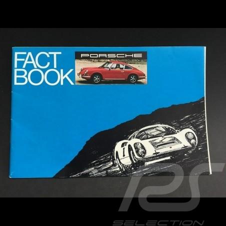 Brochure Porsche gamme 1969 - Fact book anglais english Englisch