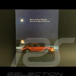 Porsche Broschüre Porsche Bereich 1972 in Englisch