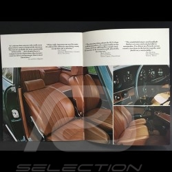 Brochure Porsche Gamme Porsche 1972 anglais english Englisch