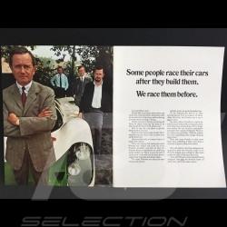 Brochure Porsche Gamme Porsche 1970 anglais english Englisch