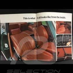 Porsche Broschüre Porsche Bereich 1970 in Englisch