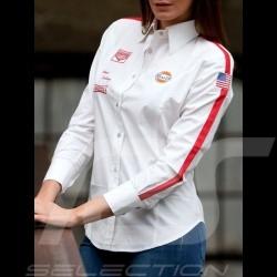 Bluse Gulf vintage weiß - Damen