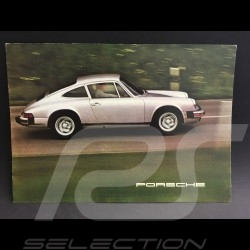 Brochure Porsche Gamme Porsche 1975 anglais english Englisch