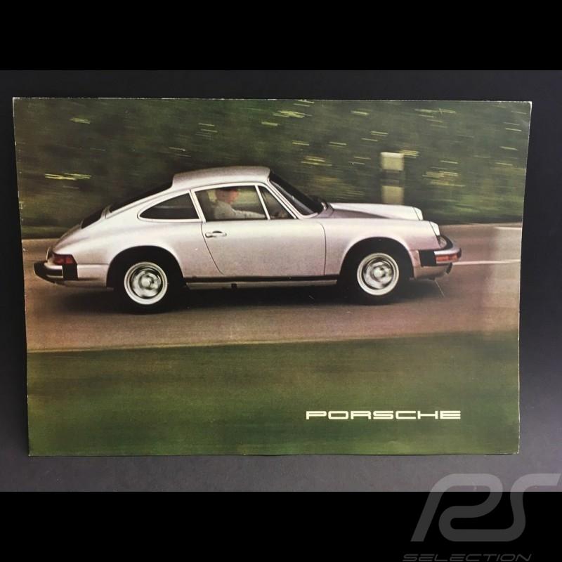 Porsche Broschüre Porsche Bereich 1975 in Englisch