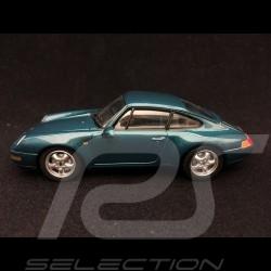 Porsche 911 type 993 1993 1/43 Minichamps 430063010 turquoise métallisé metallic turkïs