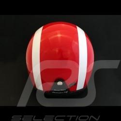 Casque Jo Siffert 1968 réplique n° 59 / 100 rouge bandes blanches drapeau suisse avec visière Helmet Helm