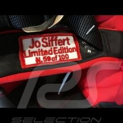 Helm Jo Siffert 1968 replica n° 5 / 100 rot weißen Streifen Schweizer Flagge mit Visier