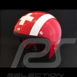 Helmet Jo Siffert 1968 replica n° 53 / 100 red white stripes swiss flag with visor
