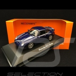 Porsche 911 type 993 Turbo 1993 1/43 Minichamps 940069201 bleu midnight métallisé midnight blue metallic midnightblau metallic