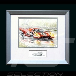 Porsche Poster 917 K Salzburg Le Mans 1970 n° 23 - Printed reproduction  of a painting by Uli Ehret - 105