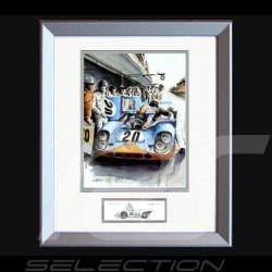 Porsche Poster 917 K Mc Queen Le Mans 1970 n° 20 - Reproduction imprimée d'une peinture de Uli Ehret - 324 - Poster Plakat