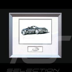 Porsche Poster Boxter 981 schwarz mit Rahmen limitierte Auflage signiert von Uli Ehret - 545