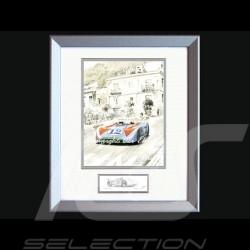 Porsche Poster 908 /03 Sieger Targa Florio 1970 n° 12 mit Rahmen limitierte Auflage signiert von Uli Ehret - 318