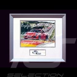 Porsche Poster 911 type 991 Spa rot mit Rahmen limitierte Auflage signiert von Uli Ehret - 628