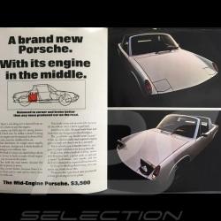 Brochure Porsche gamme Porsche 914/6 et 914/4 en anglais très grand format