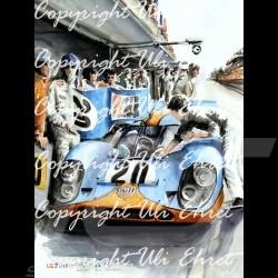 Porsche Poster 917 K Mc Queen Le Mans 1970 n° 20 - Kunstdruck eines Gemäldes von Uli Ehret - 324