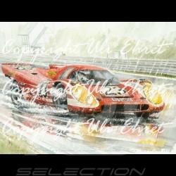 Porsche Poster 917 K Salzburg Le Mans 1970 n° 23 - Reproduction imprimée d'une peinture de Uli Ehret - 105 - Poster Plakat