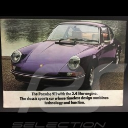 Porsche Brochure 911 2.4 1972 Porsche 911 range in english