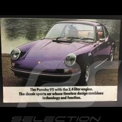 Brochure Porsche 911 2.4 1972 gamme Porsche 911 en anglais english Englisch