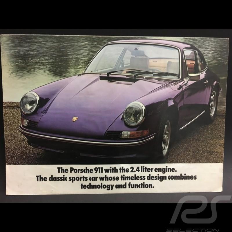 Porsche Broschüre 911 2.4 1972 Porsche 911 Bereich in Englisch