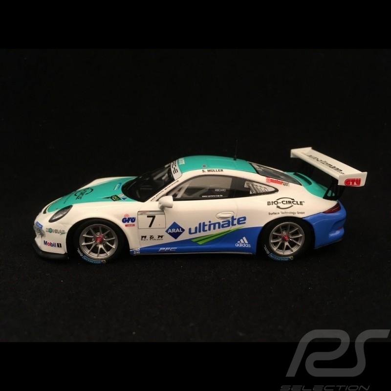 Porsche 911 GT3 Cup type 991 n° 7 Müller 1/43 Spark SG273 vainqueur winner Sieger Carrera Cup Allemagne 2016