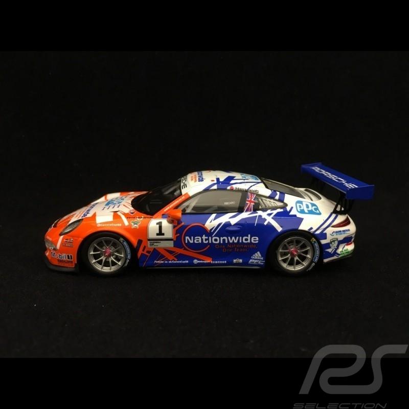 Porsche 911 GT3 Cup type 991 n° 7 Müller 1/43 Spark SG273  vainqueur winner Sieger Carrera Cup Grande Bretagne 2016