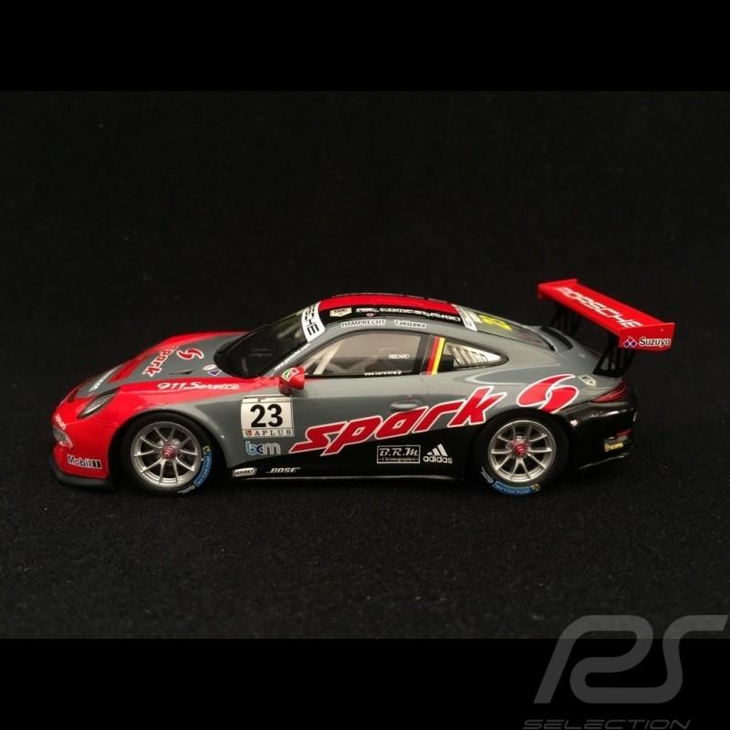 Porsche 911 GT3 Cup type 991 Winner Carrera Cup Japan Fuji 2017 n° 23 Hamprecht 1/43 Spark SJ052