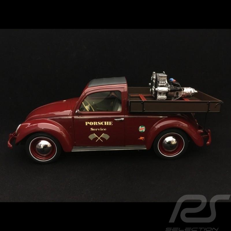 Volkswagen VW Cox Beutler Porsche Service avec moteur Porsche Carrera rouge 1/18 Schuco 450009300
