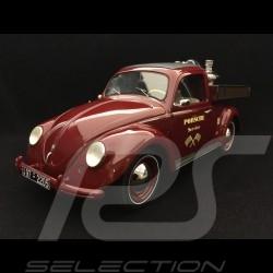 Volkswagen VW Käfer Beutler - Pritsche Porsche Service mit Porsche Carrera - Motor rot  1/18 Schuco 450009300