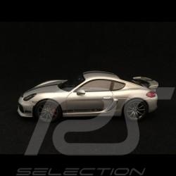 Porsche Cayman GT4 2015 gris argent 1/43 Schuco 450759300