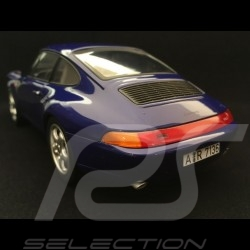 Porsche 911 type 993 Carrera Coupé 1993 bleu 1/18 Norev 187593
