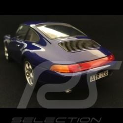 Porsche 911 type 993 Carrera Coupé 1993 blue 1/18 Norev 187593