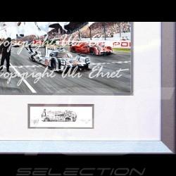 Porsche Poster 919 n°19 Sieg Le Mans 2015 mit Rahmen limitierte Auflage signiert von Uli Ehret - 566
