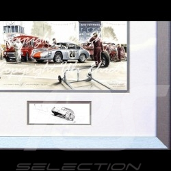 Affiche Porsche 356 Abarth Goodwood 1962 n° 20 avec cadre édition limitée signée Uli Ehret - 426 - Poster Plakat