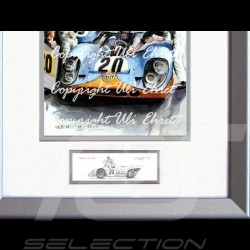 Porsche Poster 917 K Mc Queen Le Mans 1970 n° 20 - Printed reproduction  of a painting by Uli Ehret - 324