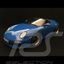 Porsche 911 Speedster 997 2010 bleu pur 1/18 GT Spirit WAX20140013