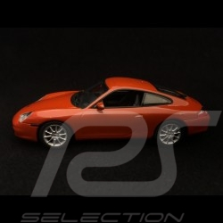 Porsche 911 Carrera type 996 2001 1/43 Minichamps 940061021 rouge orange métallisé red rot metallic