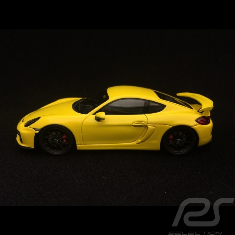 Porsche Cayman GT4 2016 racing yellow 1/43 Spark S4939