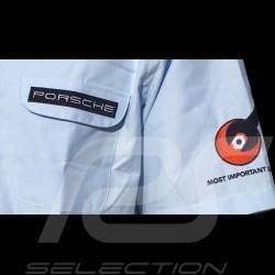 Shirt Porsche 356 short sleeves sky blue - men