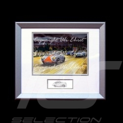 Porsche 356 Coupé et Cabriolet at night wood frame aluminum with black and white sketch Limited edition Uli Ehret - 261