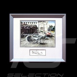 Porsche 804 Monaco 1962 n° 4 Dan Gurney wood frame aluminum with black and white sketch Limited edition Uli Ehret - 357