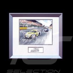 Porsche Poster 911 GT3 Cup type 991 Aluminium Rahmen mit Schwarz-Weiß Skizze Limitierte Auflage Uli Ehret - 628