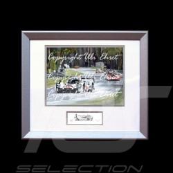 Porsche 919 Sieger Le Mans 2015 n°19 Aluminium Rahmen mit Schwarz-Weiß Skizze Limitierte Auflage Uli Ehret - 551