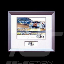 Porsche 911 type 991 RSR n° 77 night racing wood frame aluminum with black and white sketch Limited edition Uli Ehret - 558