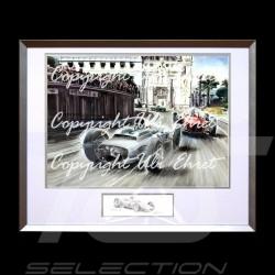 Porsche Poster 804 Monaco 1962 n° 4 Dan Gurney große Aluminium Rahmen mit Schwarz-Weiß Skizze Limitierte Auflage Uli Ehret - 364