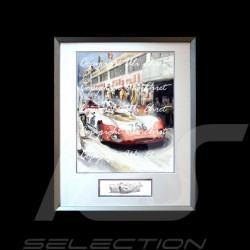 Porsche 908 /02 Sieger Targa Florio 1969 n° 266 große Alu Rahmen mit Schwarz-Weiß Skizze Limitierte Auflage Uli Ehret - 427